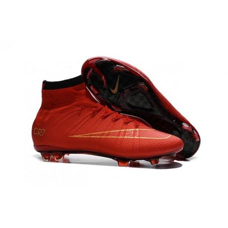Scarpe Da Calcio Nike Mercurial Superfly Fg Uomo Rosso Oro Nero