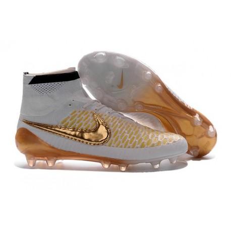 Nike Nouve Scarpe Calcio Nike Magista Obra Fg Nero Bianco Oro