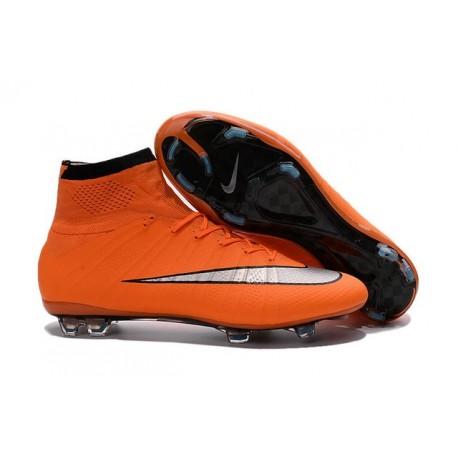 Scarpe calcio Nuove Nike Mercurial Superfly FG Arancione Argenteo Nero
