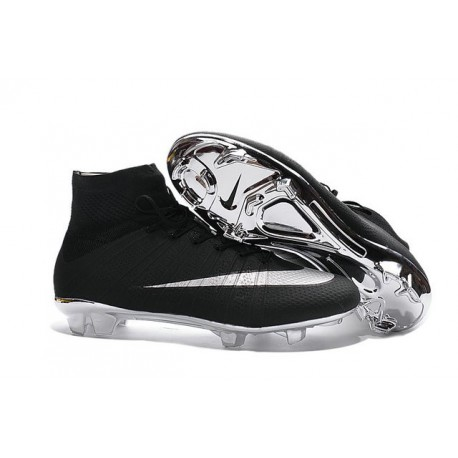 2016 Scarpini Calcio Nike Mercurial Superfly FG Argento Nero