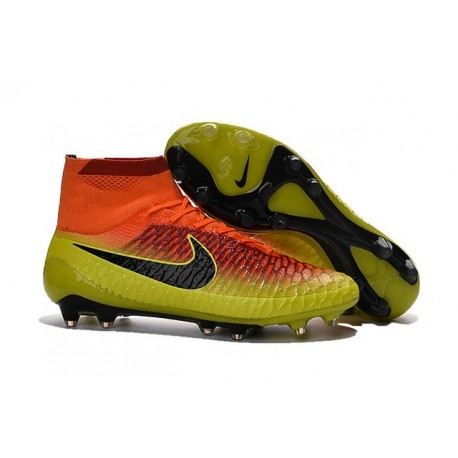 2016 Nike Tacchetti Da Calcio Magista Obra Fg Total Cremise Nero Agrume Acceso