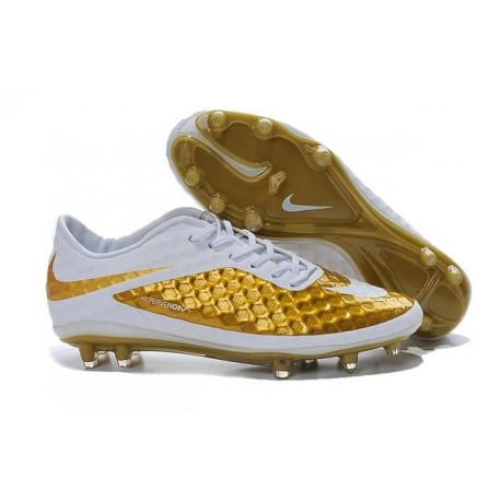 Nike Hypervenom Phantom FG Scarpe Sportive Uomo Oro Bianco
