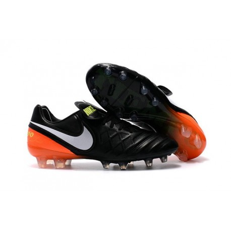 Scarpe Calcio Nike Tiempo Legend VI FG Nero Bianco Arancione Volt