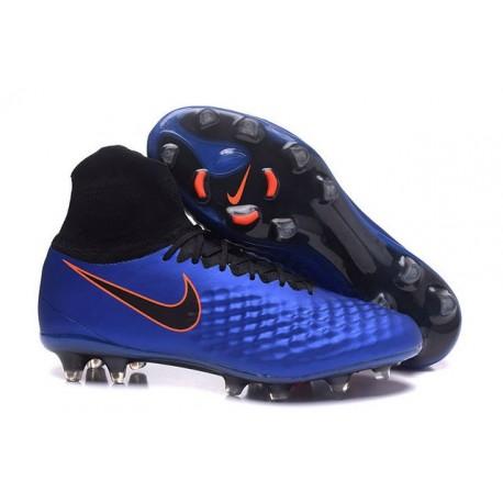 Nuovo Tacchetti Nike Magista Obra 2 FG Blu Nero Arancione