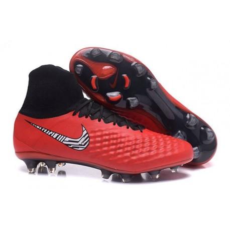 Uomo Nike Magista Obra 2 FG scarpe da calcio Rosso Nero