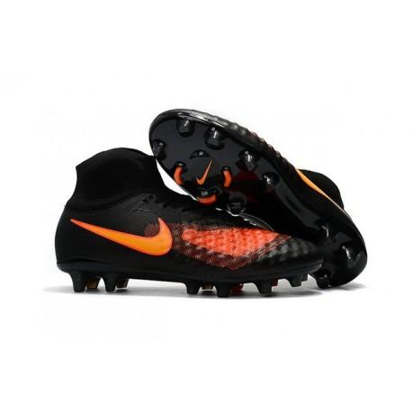 Nuove Scarpe da Calcio Nike Magista Obra 2 FG Nero Arancione