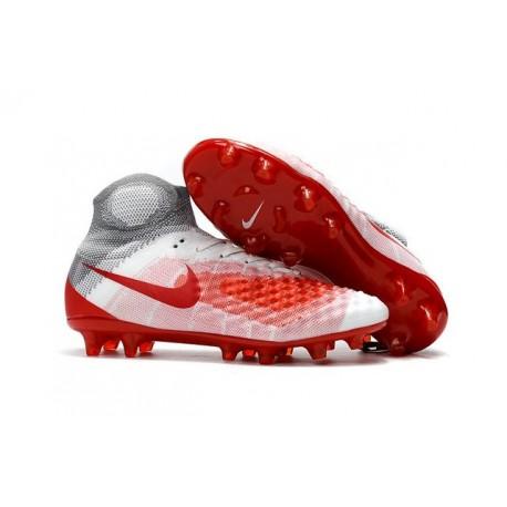 Nuove Scarpe da Calcio Nike Magista Obra 2 FG Bianco Rosso