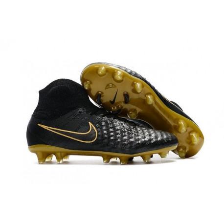Nuove Scarpe da Calcio Nike Magista Obra 2 FG Nero Oro