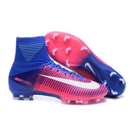 Scarpa Uomo Nike Mercurial Superfly 5 FG ACC Rosa Bianco Blu
