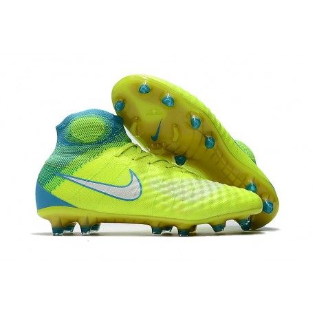 Nuove Scarpe da Calcio Nike Magista Obra 2 FG Verde Blu