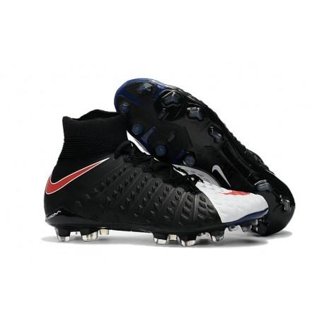 Nike Hypervenom Phantom III Dynamic Fit FG ACC Scarpa Calcio Nero Bianco Rosso