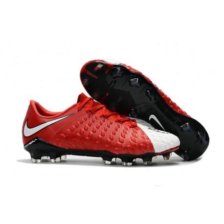 Scarpe da Calcio Nike Hypervenom Phantom 3 FG - Rosso Bianco Nero