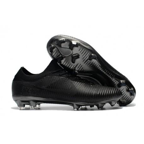 Nuovo Scarpe da calcio - Nike Mercurial Vapor Flyknit Ultra FG Tutto Nero