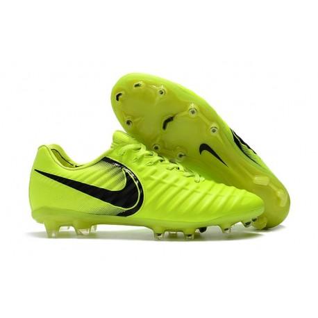 Nuovo Scarpa da Calcio Nike Nuovo Tiempo Legend 7 FG - Volt Nero