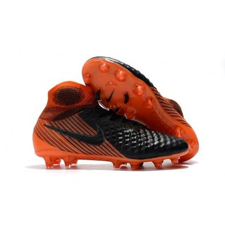 Nuove Scarpe da Calcio Nike Magista Obra 2 FG Black White Hyper Crimson