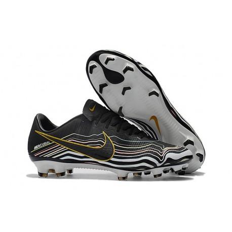 Nuovo Nike Mercurial Vapor 11 FG - Scarpe da Calcio Nero Bianco Oro