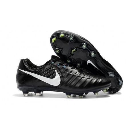Nuovo Scarpa da Calcio Nike Nuovo Tiempo Legend 7 FG - Nero Bianco