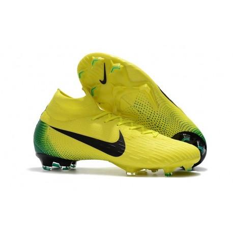 Scarpe Da Calcio Nike Mercurial Superfly VI 360 Elite FG - Uomo Nero Giallo