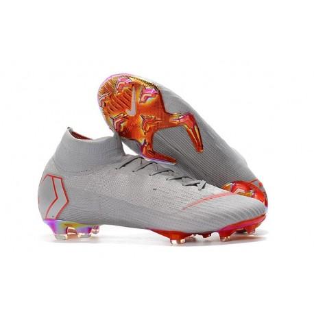 Scarpe Da Calcio Nike Mercurial Superfly VI 360 Elite FG - Uomo Grigio Rosso