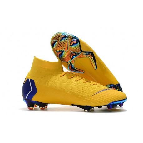 Scarpe Da Calcio Uomo Nike Mercurial Superfly VI 360 Elite FG Blu Giallo