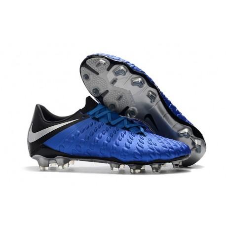 Scarpe da Calcio Nike Hypervenom Phantom III FG - Blu Nero Argento