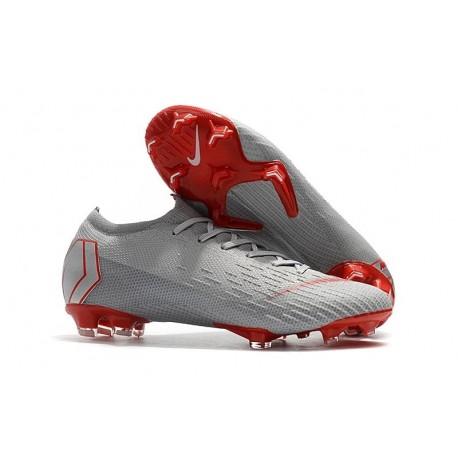 Scarpe Da Calcio Nike Mercurial Vapor XII 360 Elite FG Uomo Grigio Rosso