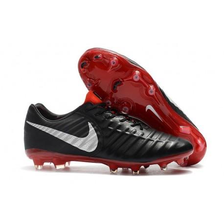 Uomo - Scarpa da Calcio Nike Nuovo Tiempo Legend 7 FG - Nero Rosso Argento