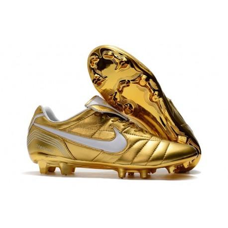 Scarpe Da Calcio Nike Tiempo Legend VII 10R Elite FG Oro Bianco