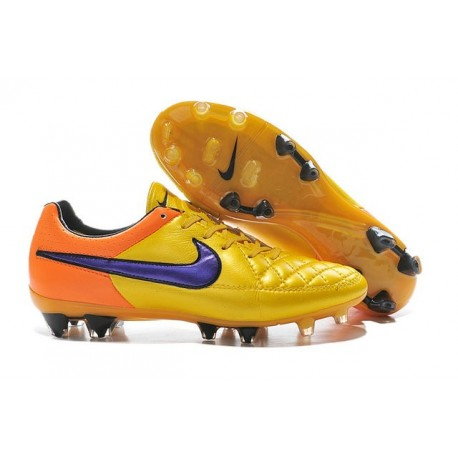 NIKE Nike Tiempo Legend V fg scarpe sportive calcio uomo Arancione Laser Violetto