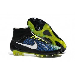 Nike Nouve Scarpe Calcio Nike Magista Obra Fg Nero Bianco Giallo Blu