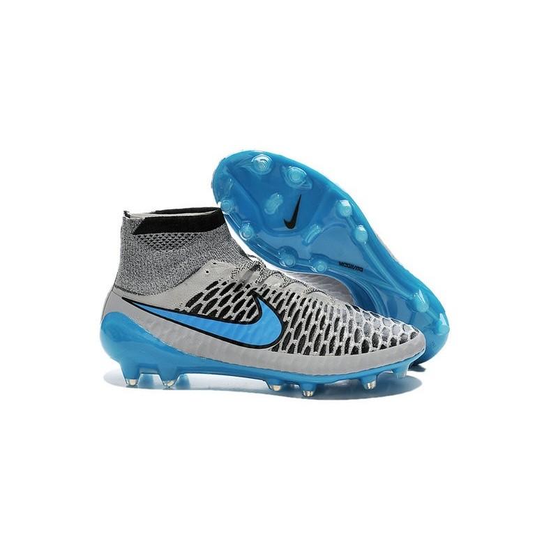 2015 Nike Tacchetti Da Calcio Magista Obra Fg Grigio Lupo Turchese Nero 98766685579
