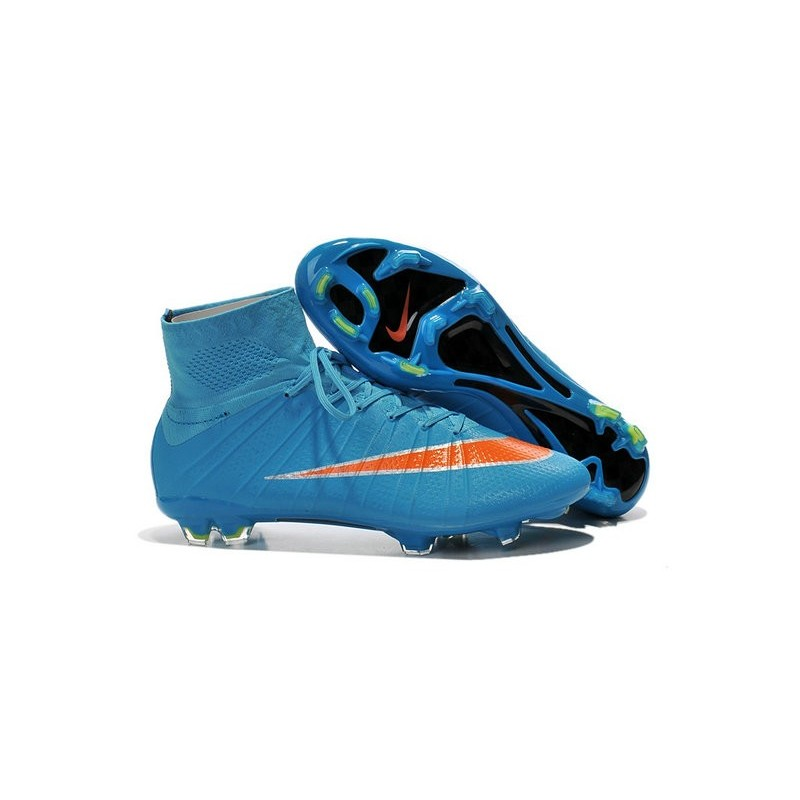 reputable site 7bb17 cc0fa Scarpe Da Calcio Nike Mercurial Superfly Fg Uomo Blu Arancio