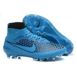Scarpe Da Calcio Nike - Scarpe Nike Magista Obra Fg - Terreni Compatti - Blu Nero