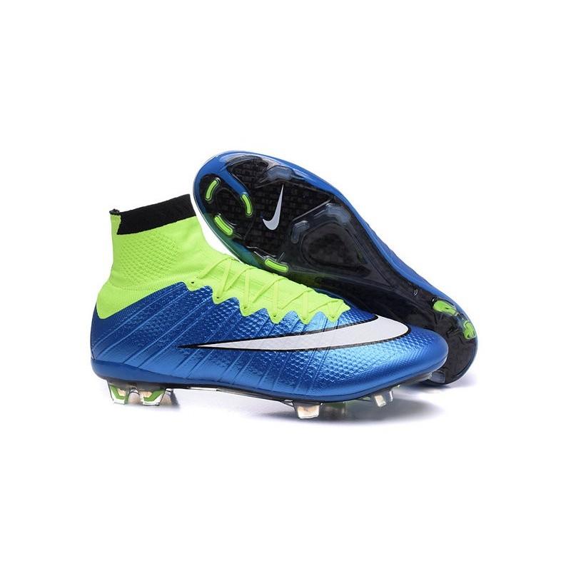 174ea7da9 Scarpe calcio Nuove Nike Mercurial Superfly FG Verde Blu Nero Bianco