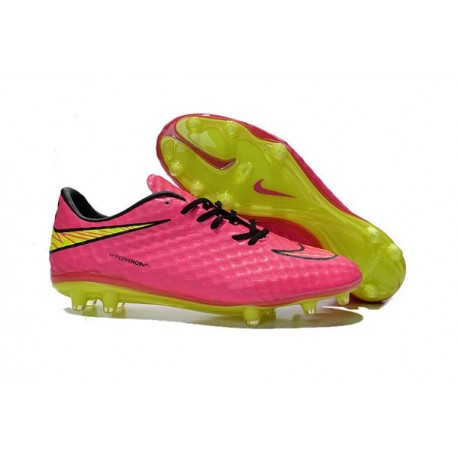 Nike - Hypervenom Phantom FG Mens scarpe da calcio Rosa Giallo Nero
