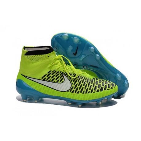 2015 Nike Tacchetti Da Calcio Magista Obra Fg Volt Bianco Blu Laguna Nero