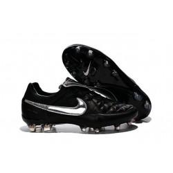 Scarpe da Calcio Nike Scarpe Nike Tiempo Genio Pelle Argenteo Nero