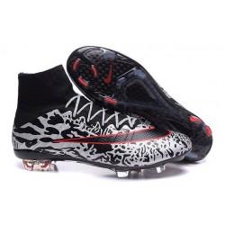 Scarpe Da Calcio Nike Mercurial Superfly Fg Uomo Leopardo Bianco Nero Rosso