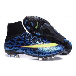 Scarpe calcio Nuove Nike Mercurial Superfly FG Leopardo Blu Volt Nero