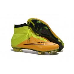 2015 Scarpini Calcio Nike Mercurial Superfly Pelle FG Giallo Volt Nero