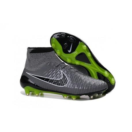 Scarpe Da Calcio Nike - Scarpe Nike Magista Obra Fg - Terreni Compatti - Grigio Nero Verde