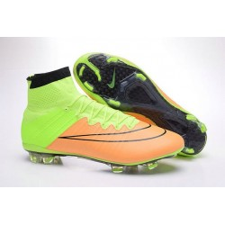 Scarpe Da Calcio Nike Mercurial Superfly Fg Uomo Pelle Canvas Nero Volt