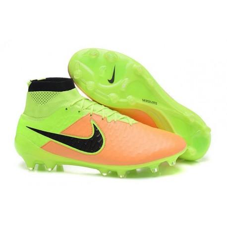 Nike Nouve Scarpe Calcio Nike Magista Obra Fg Pelle Canvas Nero Volt
