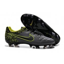Scarpe da Calcio Uomo Scarpe Nike Tiempo Legend V FG Terreni Compatti Antracide Nero Volt