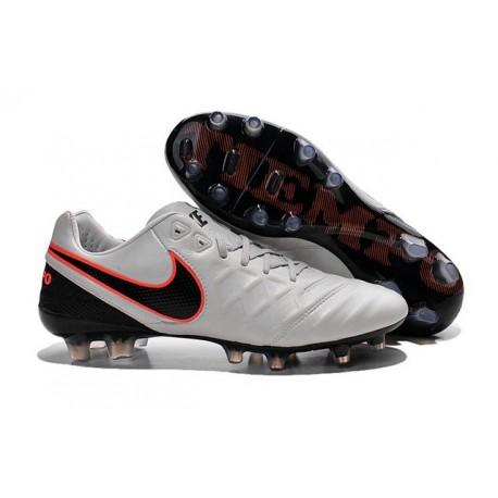 Scarpe Calcio Nike Tiempo Legend VI FG Bianco Nero Arancione