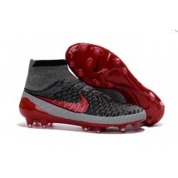 Scarpe Da Calcio Nike - Scarpe Nike Magista Obra Fg - Terreni Compatti - Grigio Nero Rosso