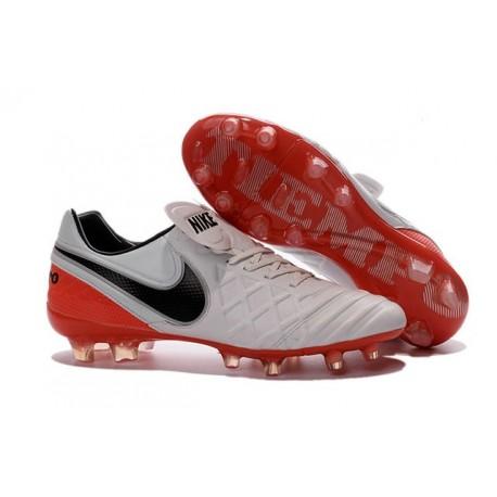Scarpe Calcio Nike Tiempo Legend VI FG Bianco Rosso Nero