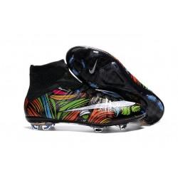 Scarpe calcio Nuove Nike Mercurial Superfly FG Nero Bianco Verde Blu Arancione Rosa Giallo