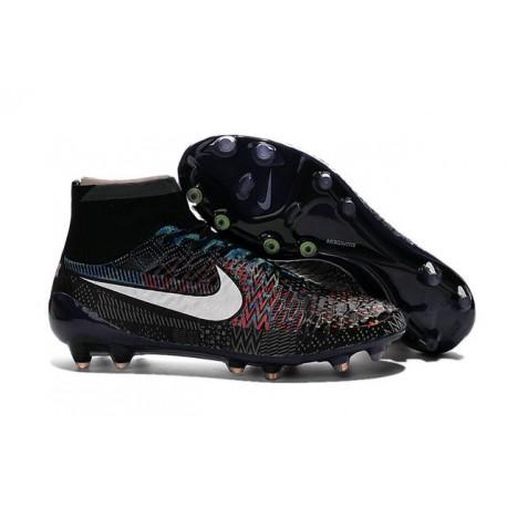 Scarpe Da Calcio Nike - Scarpe Nike Magista Obra Fg - Terreni Compatti - BHM Bianco Nero Blu Rosso