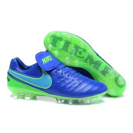 Scarpe Calcio Nike Tiempo Legend VI FG Blu Verde